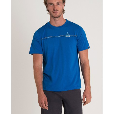 Sherpa Adventure Gear Swayambu Tee in Kongde Blue