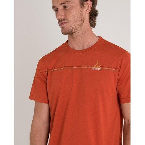 Sherpa Adventure Gear Swayambu Tee in Teej Orange