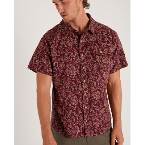Kiran Short Sleeve Shirt Ganden Red Print