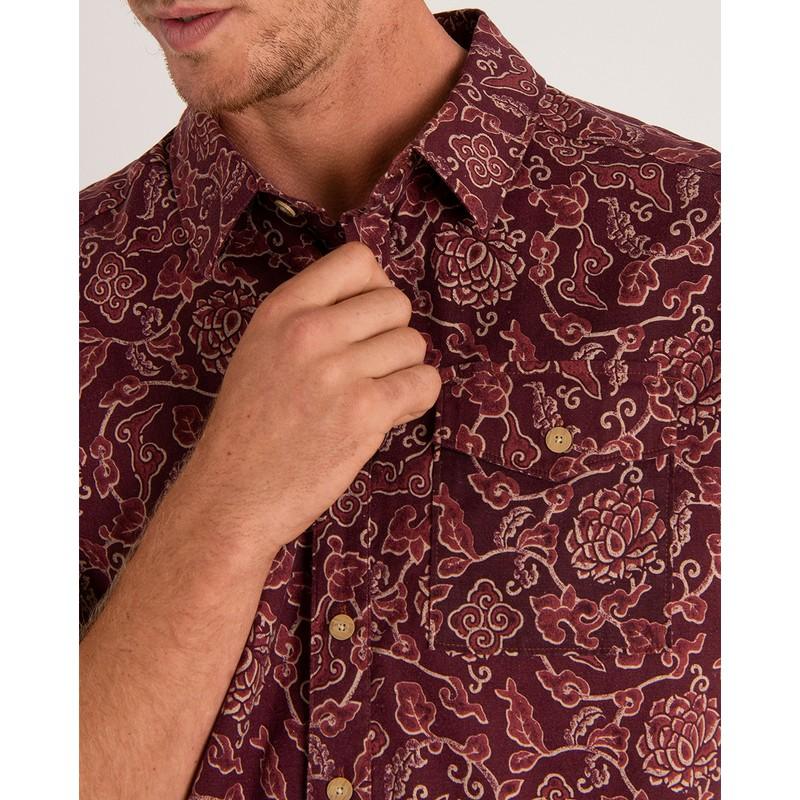 Kiran Short Sleeve Shirt - Ganden Red Print