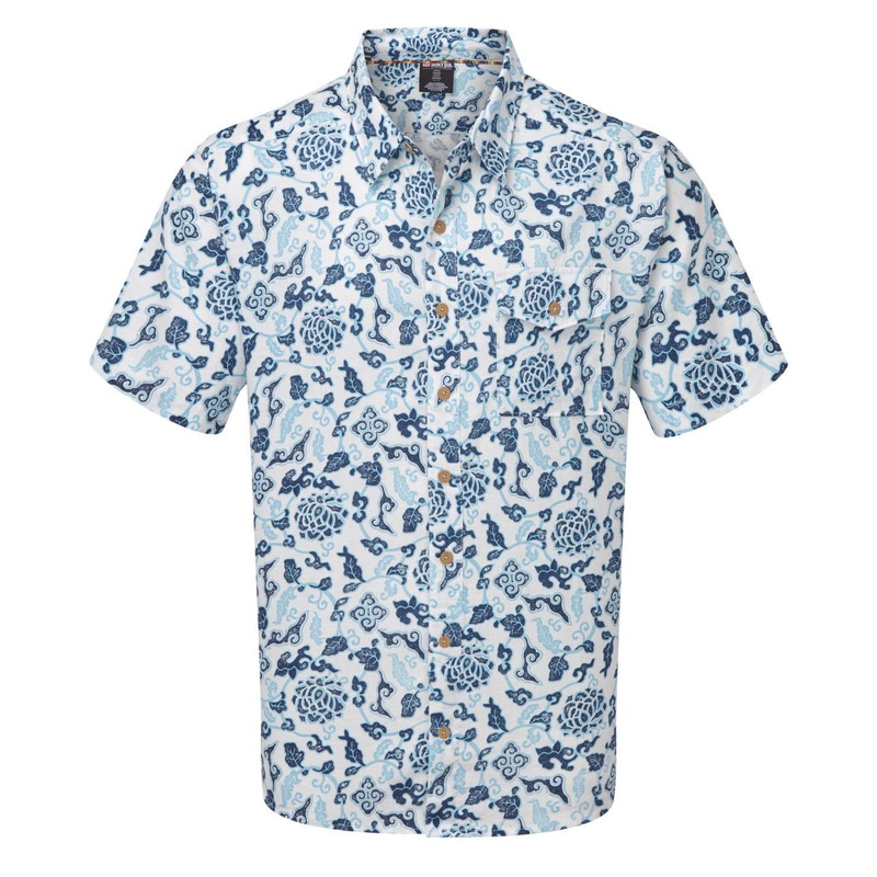 Kiran Short Sleeve Shirt - Katha White Print