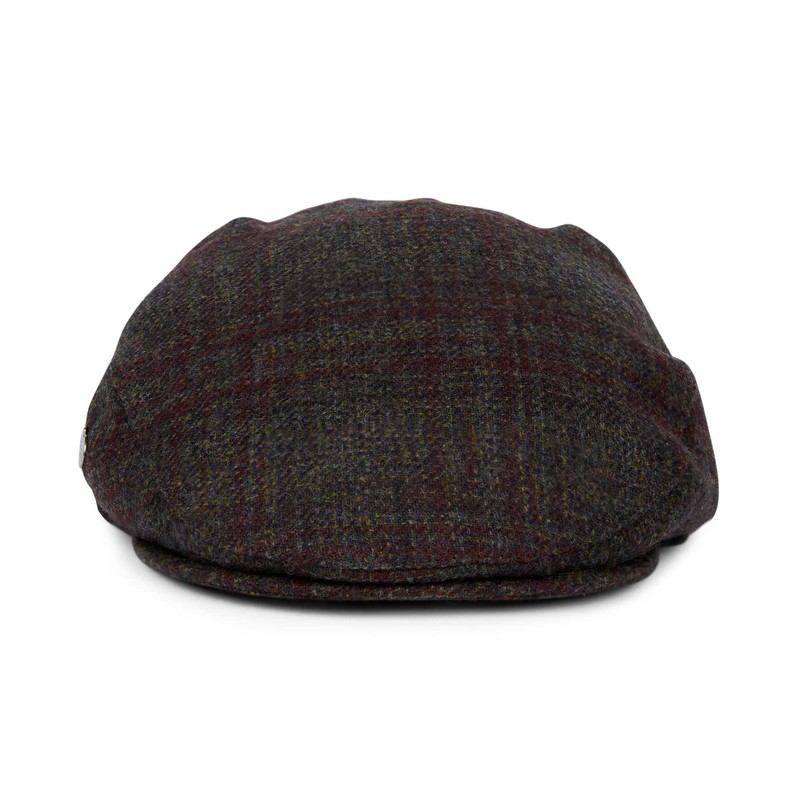 Casquette gavroche en tweed -