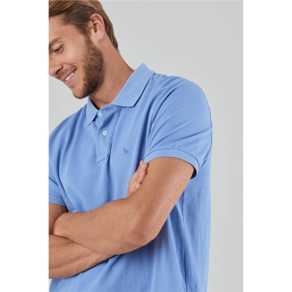 St Ives Tailored Polo Shirt Cornflower Blue
