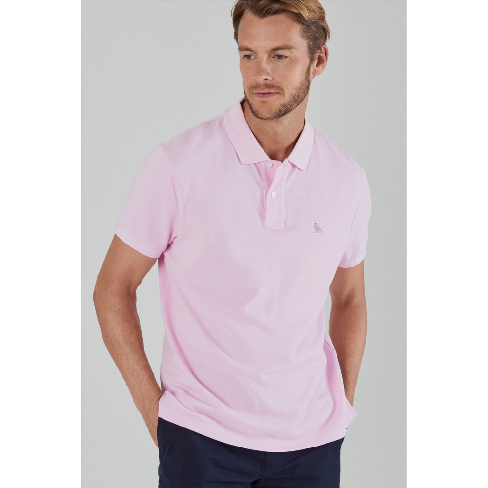 St Ives Tailored Polo Shirt Pale Pink