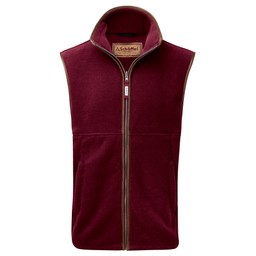 Schoffel Country Oakham Fleece Gilet in Claret