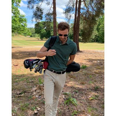 St Ives Tailored Polo Shirt Sage