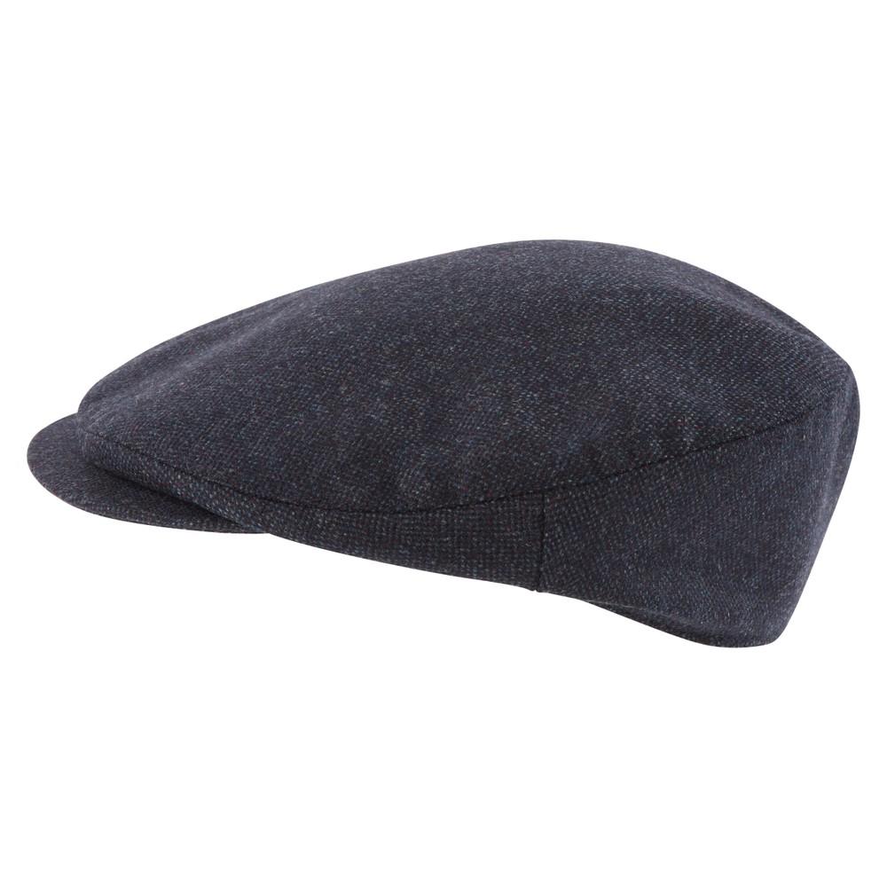 Tweed Classic Cap Navy Herringbone Tweed