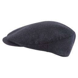 Schoffel Country Tweed Classic Cap in Navy Herringbone Tweed