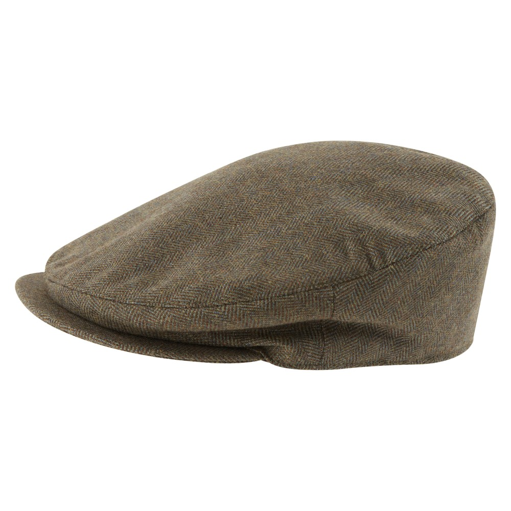 Tweed Classic Cap Loden Green Herringbone Tweed