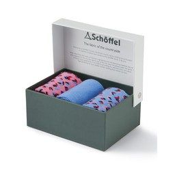 Schoffel Country Ladies Bamboo Sock (Box of 3) in Blue Mix
