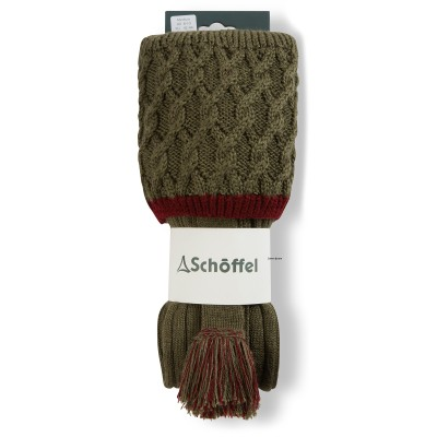 Lattice Sock Olive/Claret