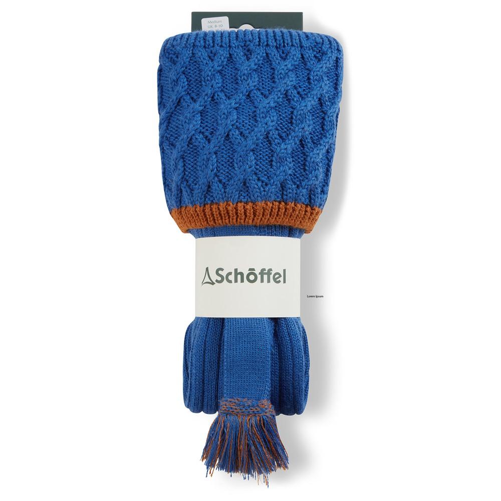 Lattice Sock Sea Blue/Burnt Orange