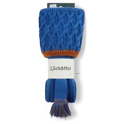 Schoffel Country Lattice Sock in Sea Blue/Burnt Orange