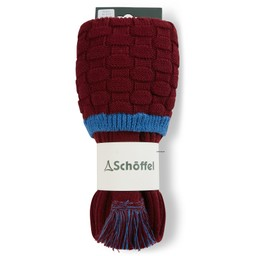 Schoffel Country Teigh Sock in Claret/Sea Blue
