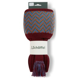 Schoffel Country Herringbone Sock in Claret/Sea blue/Burnt Orange/Olive