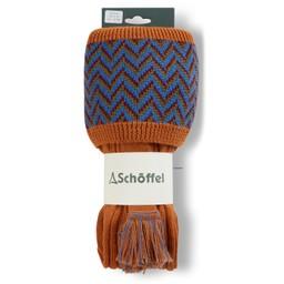 Schoffel Country Herringbone Sock in Burnt Orange/Sea Blue/Claret/Olive