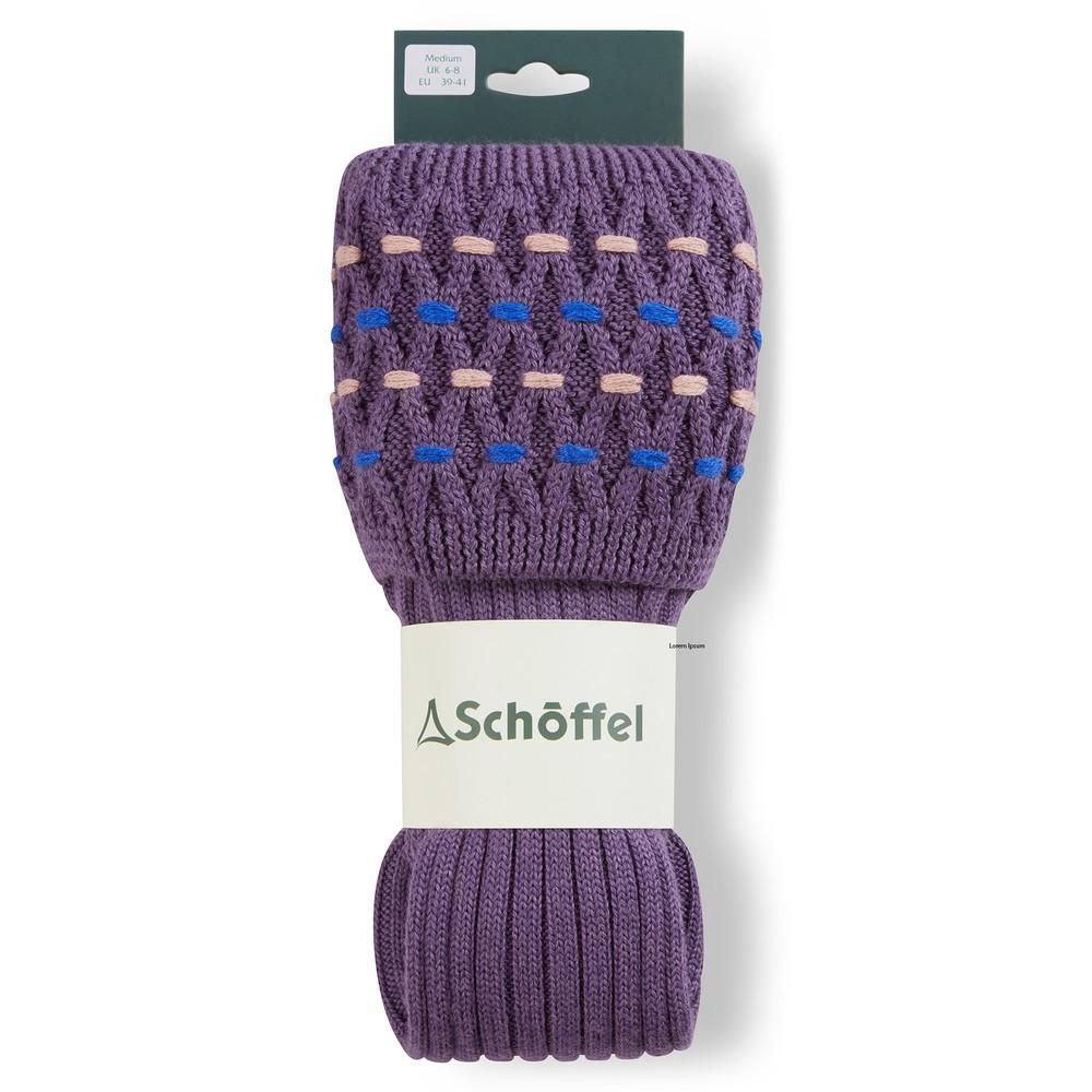 Ladies Stitch Sock II Lavender/Cobalt Blue