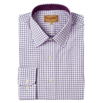 Schoffel Country Cambridge Classic Shirt in Purple