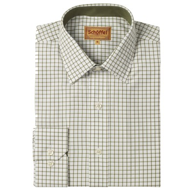 Cambridge Tailored Sporting Shirt Olive