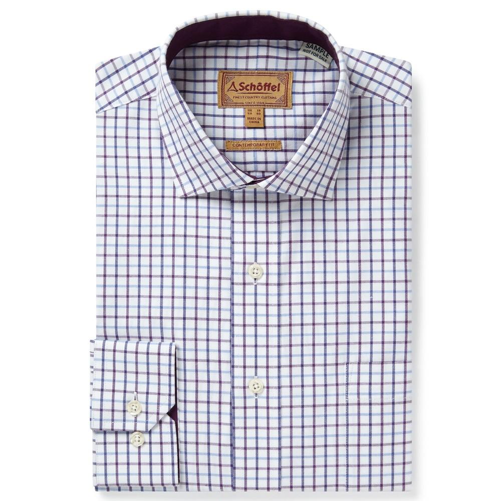 Milton Tailored Shirt Purple Check