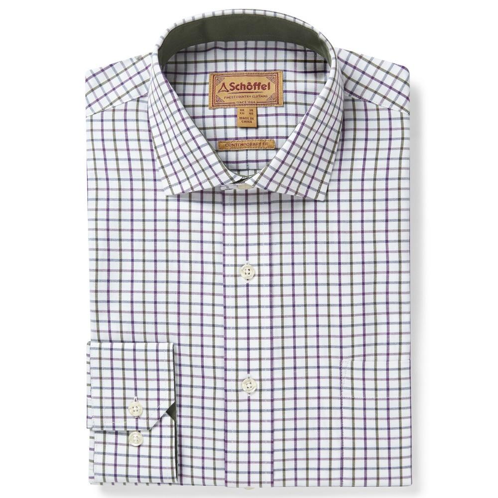 Milton Tailored Shirt Purple/Olive