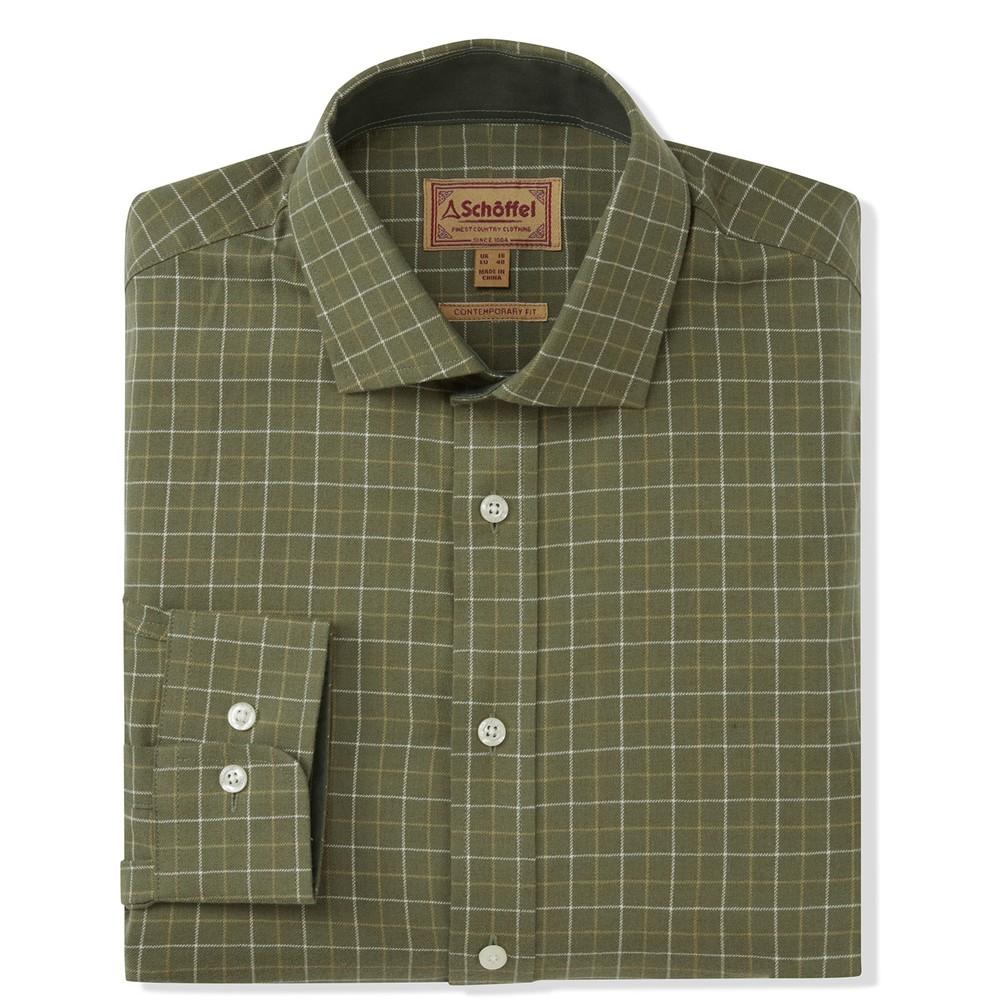 Newton Tailored Sporting Shirt Lovat Check