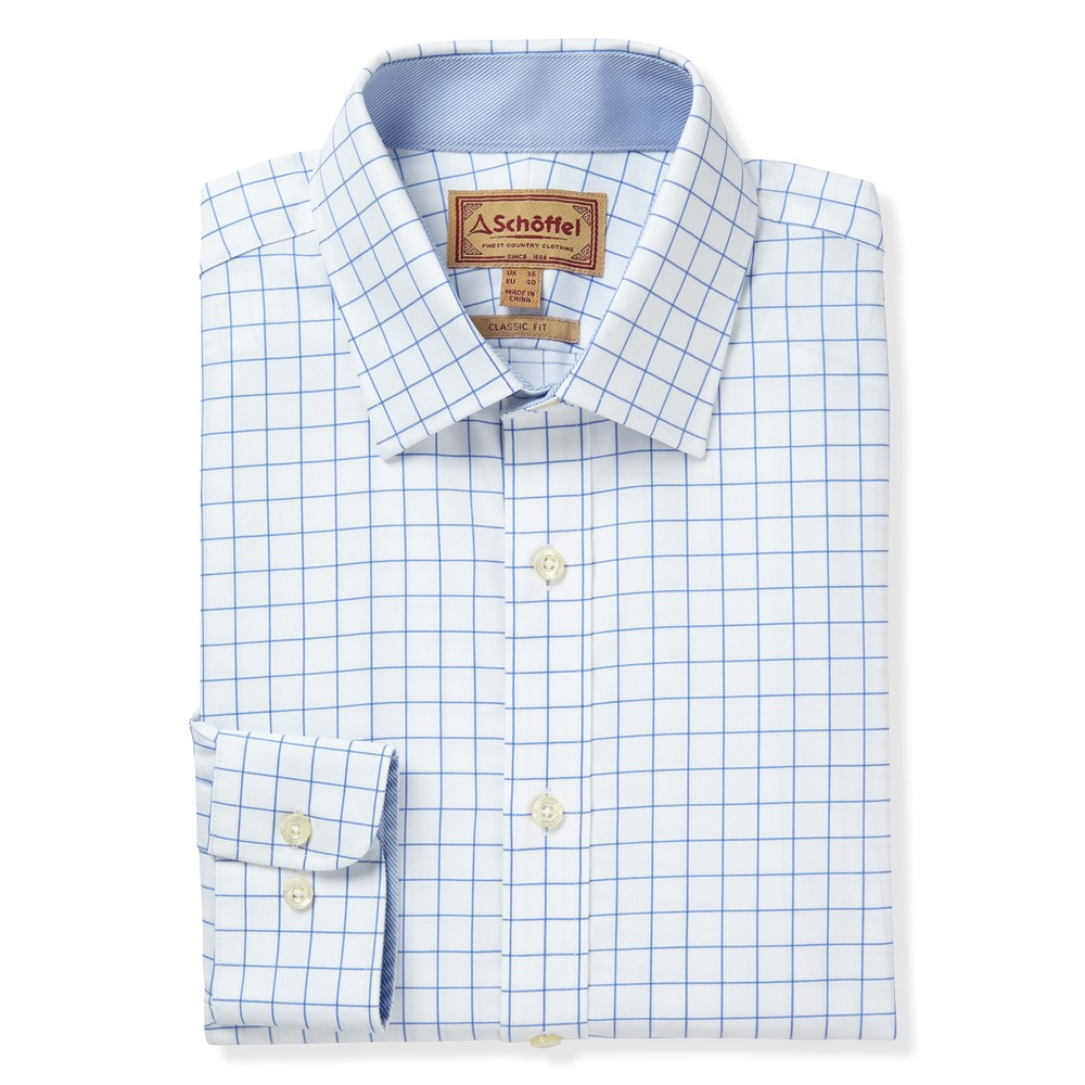 Greenwich Classic Shirt Light Blue Check