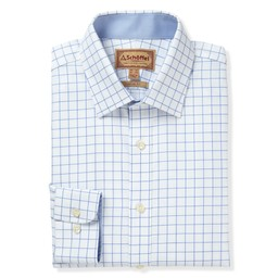 Schoffel Country Greenwich Classic Shirt in Light Blue Check