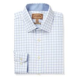 Greenwich Classic Shirt Light Blue Check