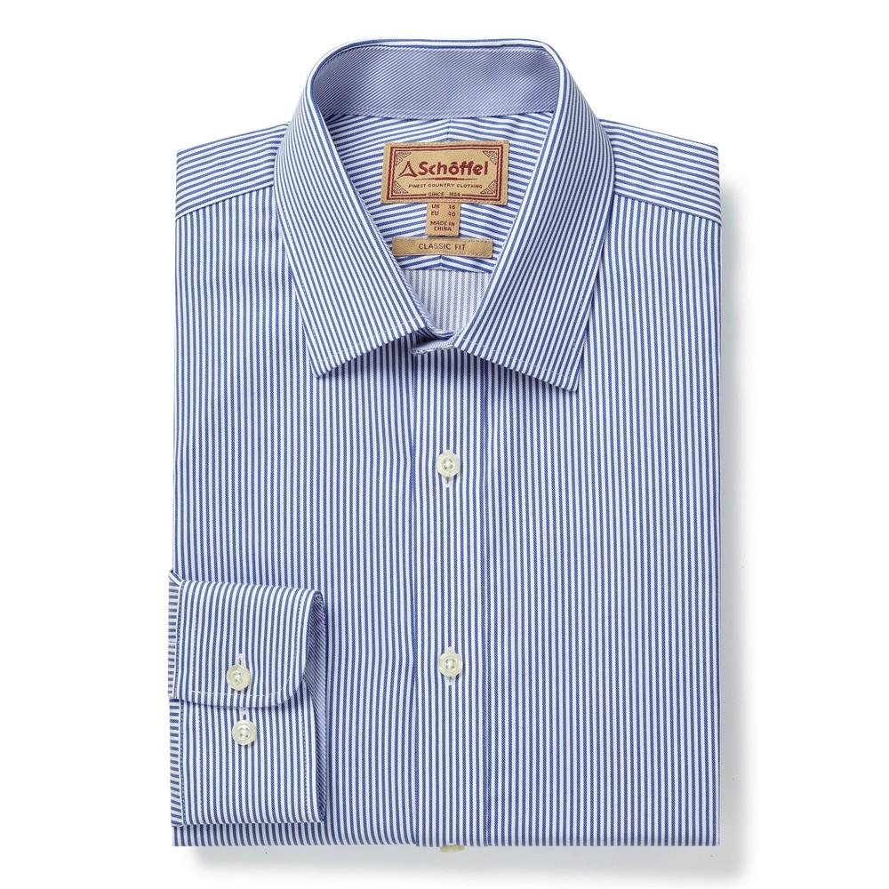 Greenwich Classic Shirt Navy Stripe