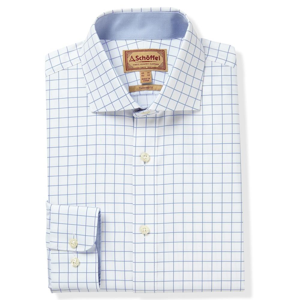 Greenwich Tailored Shirt Light Blue Check
