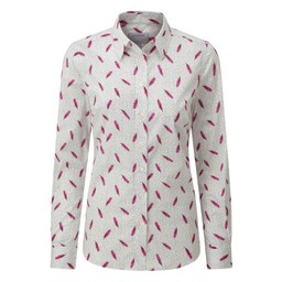 Schoffel Country Norfolk Shirt in Sprig Raspberry