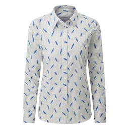 Schoffel Country Norfolk Shirt in Sprig Cobalt