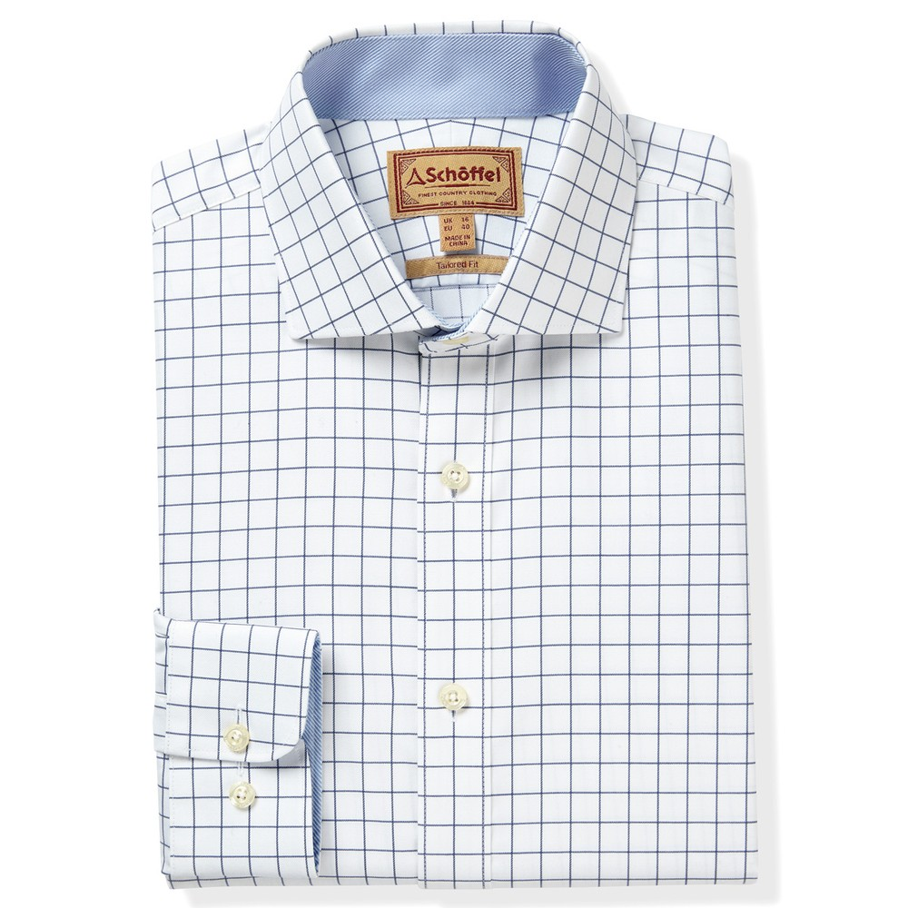 Greenwich Tailored Shirt Navy Check