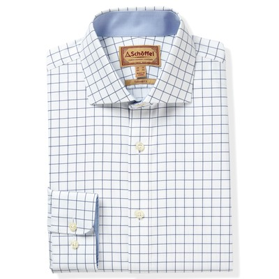 Schoffel Country Greenwich Tailored Shirt in Navy Check