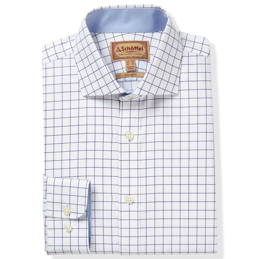 Greenwich Tailored Shirt Purple Check