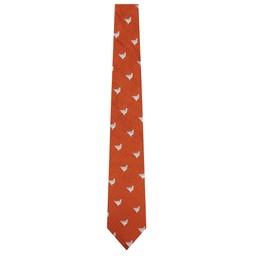 Schoffel Country Waltham Silk Tie in Burnt Orange Ptarmigan