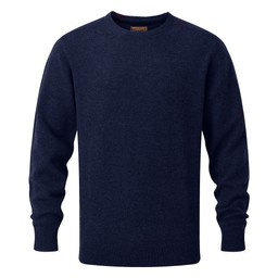 Schoffel Country Lambswool Crew Neck Jumper in Navy