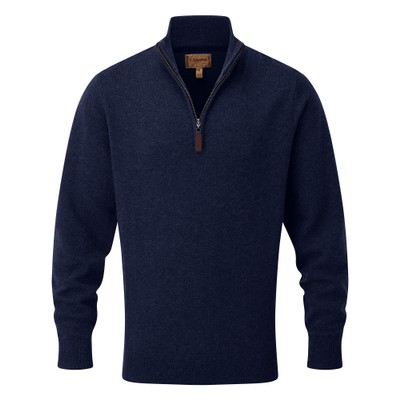 Lambswool 1/4 Zip Jumper Navy