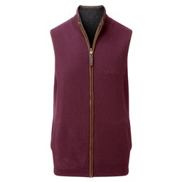 Schoffel Country Reversible Merino/Cashmere Gilet in Damson/Charcoal