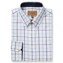 Schoffel Country Brancaster Classic Shirt in Blue/Pink Check