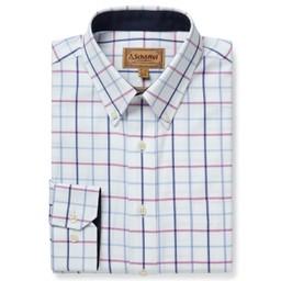Brancaster Classic Shirt Blue/Pink Check
