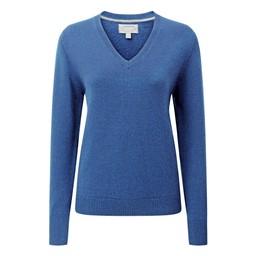 Schoffel Country Ladies Merino V Neck in Cobalt Blue
