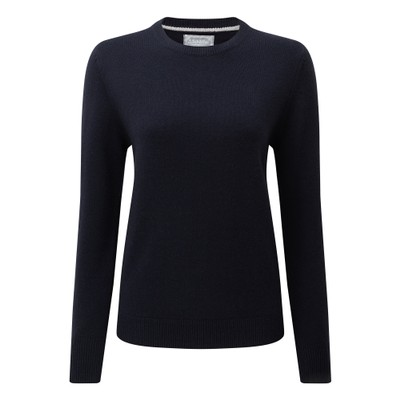 Ladies Merino Crew Neck Navy