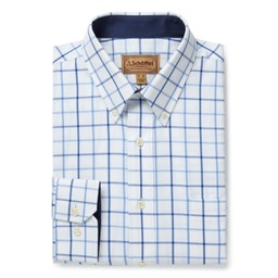 Schoffel Country Brancaster Classic Shirt in Blue Check