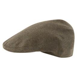 Countryman Tweed Cap Loden Green Herringbone Tweed