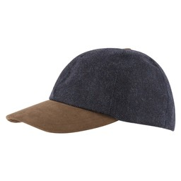 Barnsdale Cap Navy Herringbone Tweed