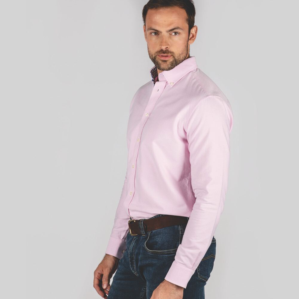 Soft Oxford Tailored Shirt Pale Pink