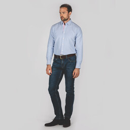 Schoffel Country Soft Oxford Tailored Shirt in Pale Blue