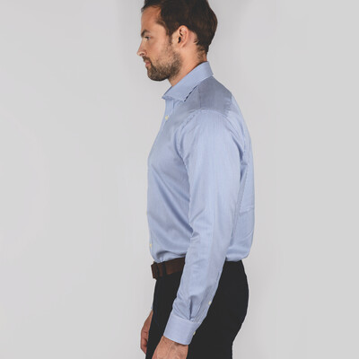 Greenwich Tailored Shirt Navy Stripe